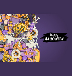 Halloween background holiday design elements vector