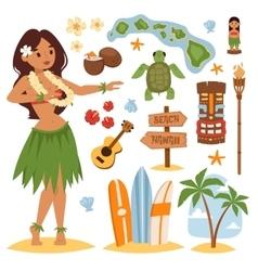 Hawaii set vector