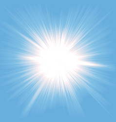 heaven light starburst vector image vector image
