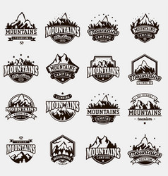 Mountain nature travel outdoor logo badge vector