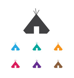 of camping symbol on refuge vector image vector image