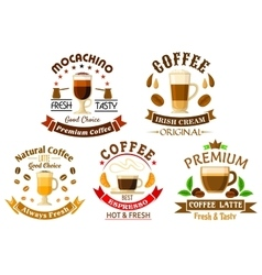 Original drinks for coffee shop design vector image vector image