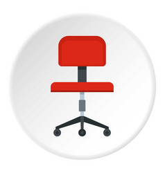Red office a chair icon circle vector