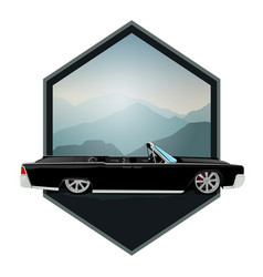 retro gangster car car icons in flat classic vector image