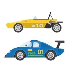 Retro sport car vector