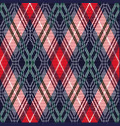 Rhombus tartan seamless texture in various colors vector
