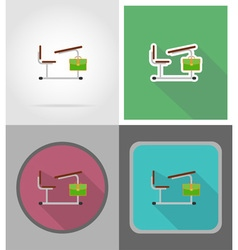 School education flat icons 14 vector