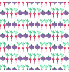 Seamless watercolor pattern with beetroot and vector image