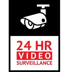 Sticker cctv vector image