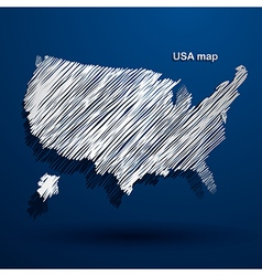 USA map2 vector image