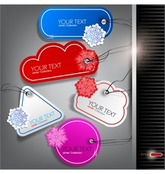 winter christmas labels vector image