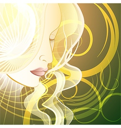 Woman in fantasy style vector image