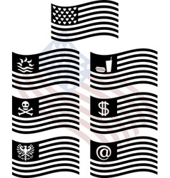 Stencils of fantasy usa flags first variant vector