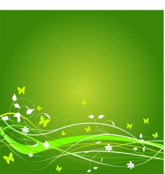 Grunge spring background vector