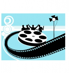 Film reel with light vector