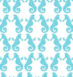 Seamless pattern with sea-horses vector