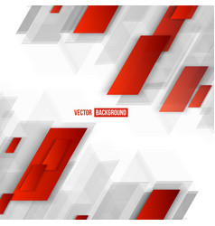 Abstract geometric shape from red vector