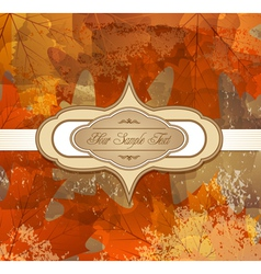 grungy autumn background vector image