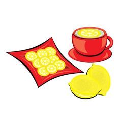 lemon tea vector image