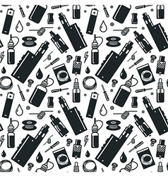 Seamless pattern of vaporizer and accessories vector