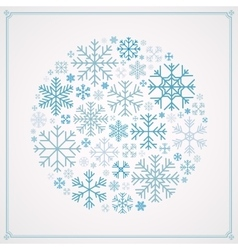 Decorating design made of snowflakes vector