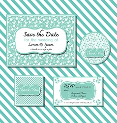 save the date template series 2 green vector image