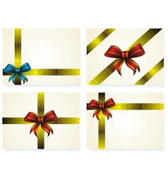 Set of yellow letters decorated golden ribbon and vector