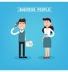 Business people businessman and businesswoman vector
