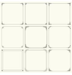 Elegant nine frames vector image