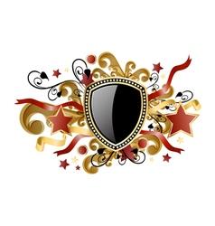 Gold royal coat of arms classic royal emblem vector
