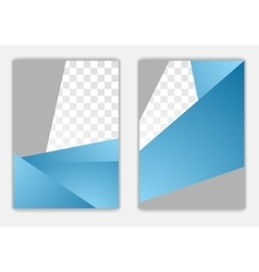 Abstract blue grey geometric corporate flyer vector