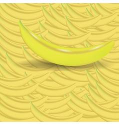 Banana background vector