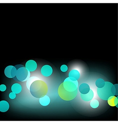 Bokeh effect design vector