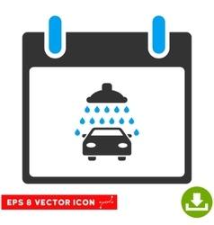 Car shower calendar day eps icon vector