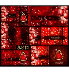 Christmas Background Collection - Red style vector image