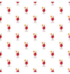 Cocktail with lemon pattern vector