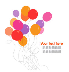 colorful bunch of balloons vector image vector image