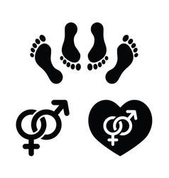 Couple sex making love icons set vector image vector image