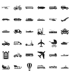 Driving icons set simple style vector