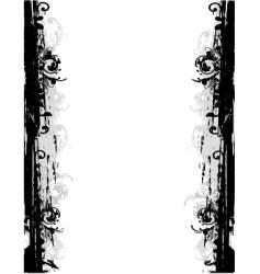 Grunge border frame vector