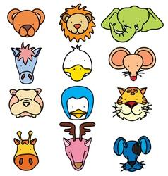 head animal 1 vector image vector image