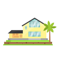 house cartoon town building vector image vector image
