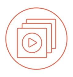 Media player line icon vector