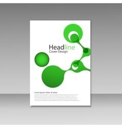 Molecule design brochure template science vector