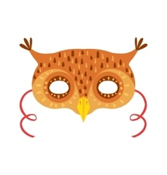 Owl animal head mask kids carnival disguise vector