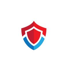 shield symbol logo template vector image vector image