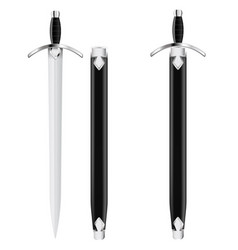 sword with scabbard vector image vector image