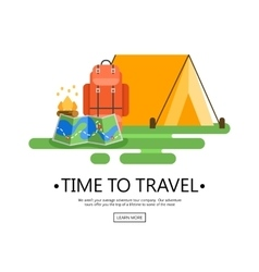 Trip design elements travel vector image