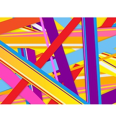 Abstract background with colorful lines vector image