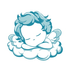 Sleeping litle angel vector